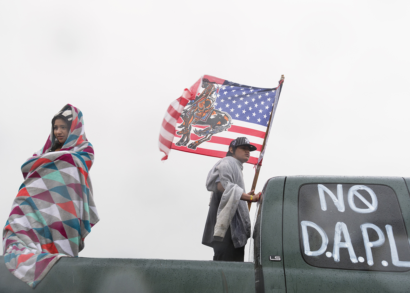 First days of protest, NO Dakota Access Pipeline